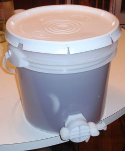 Honey Bottling Bucket with honey gate.