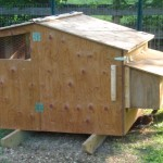 Side view of the chicken coop.