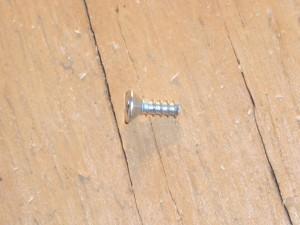 Wood screw has been trimmed.