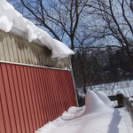 Bee Hives Covered By Snow Drift