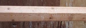 Side view of a chamfered two by two.