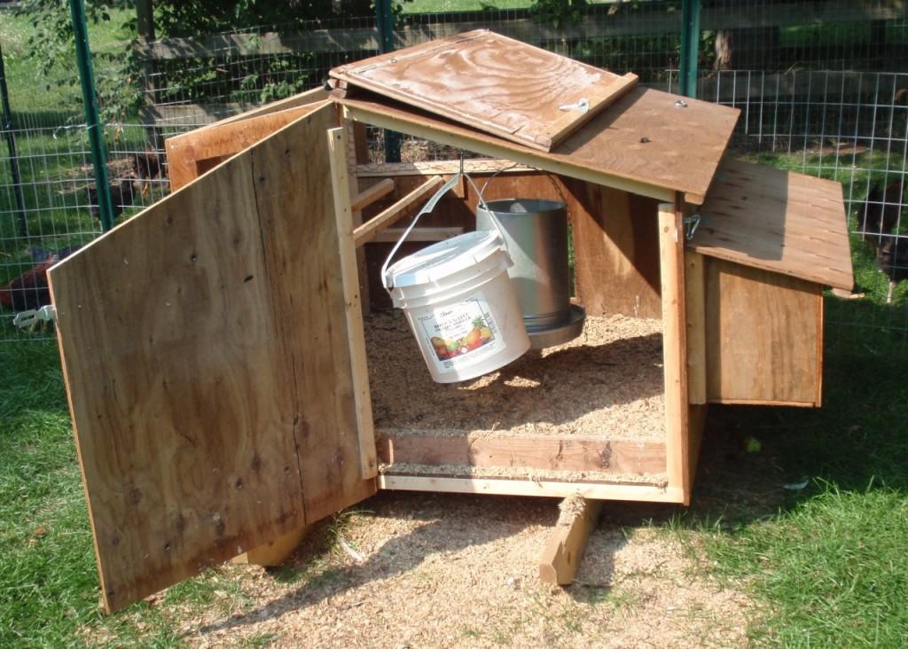 Poultry House Construction Cleanout Door