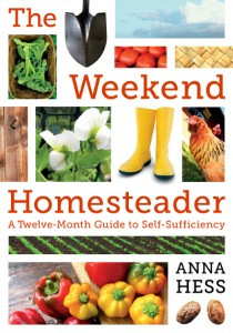 Book cover for paperback edition of weekend homesteader.