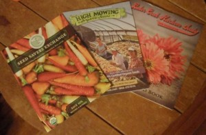 three seed catalogs