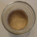 sourdough starter in a mason jar