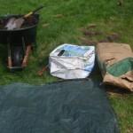 tarp compost peat moss vermiculite