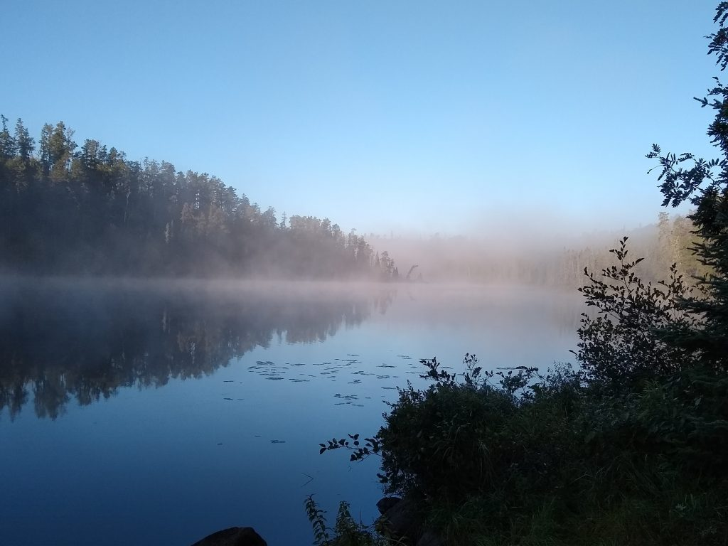 Misty morning on Kelly Lake