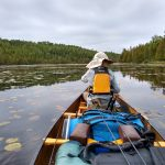 paddling Kelly lake