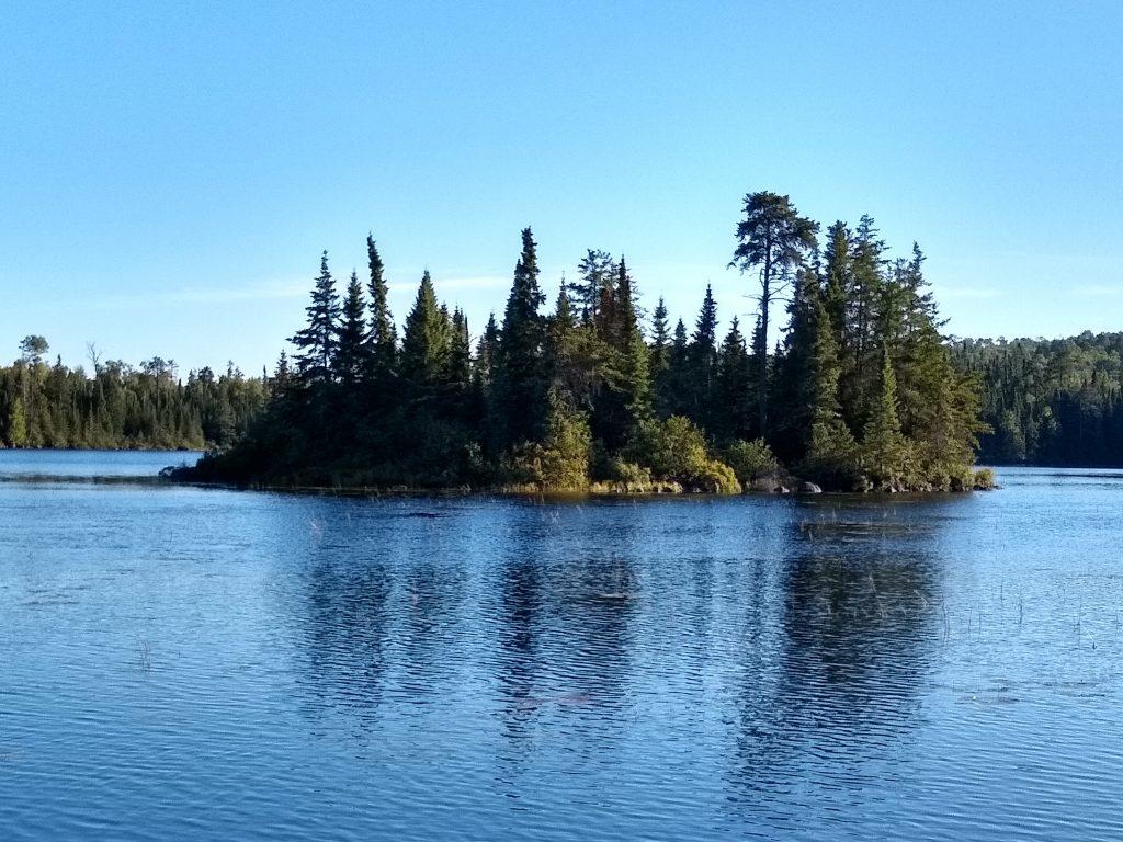 island on Jack Lake