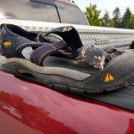 broken keen sandal