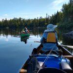 Fishing from canoe on Jack Lake