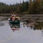solo paddler on Kelly Lake