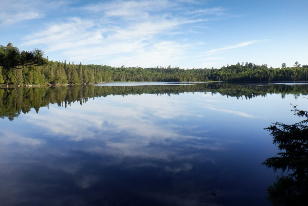 calm water on oyster lake