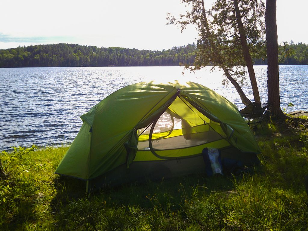 lake side tent pad