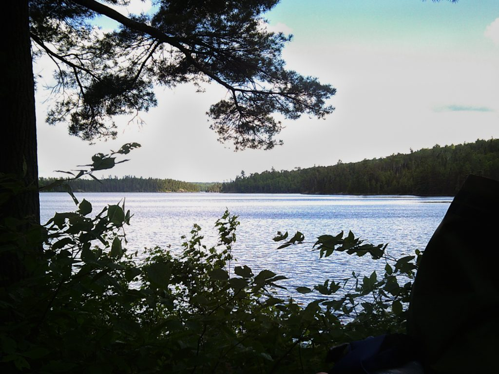 view of little loon lake from north camp site