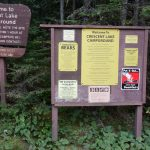 Crescent Lake Campground Sign