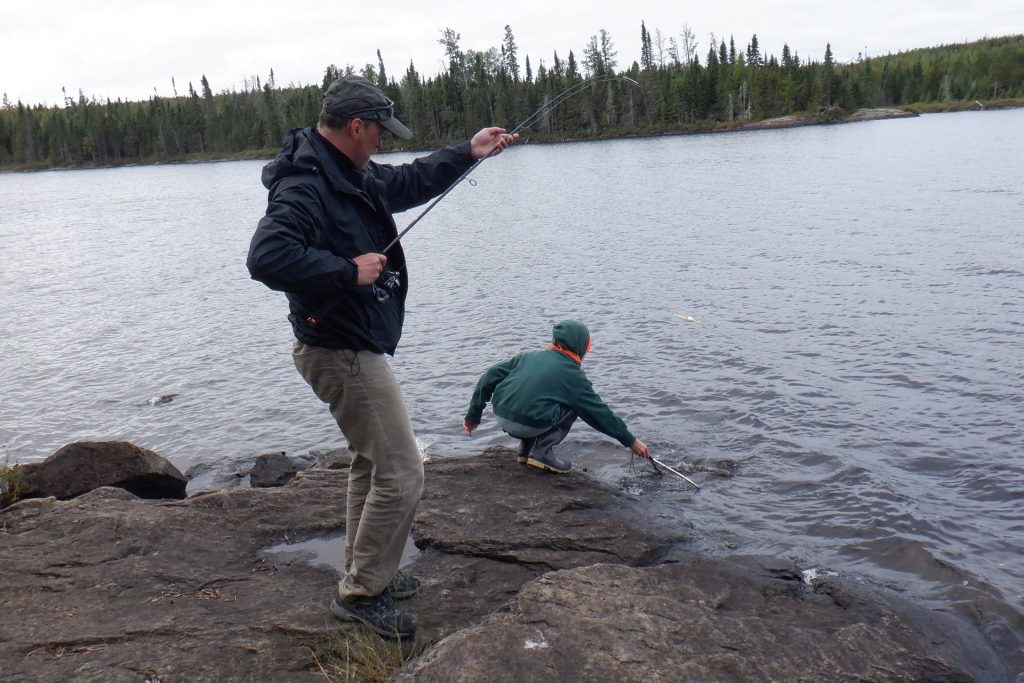 catchng a small mouth bass