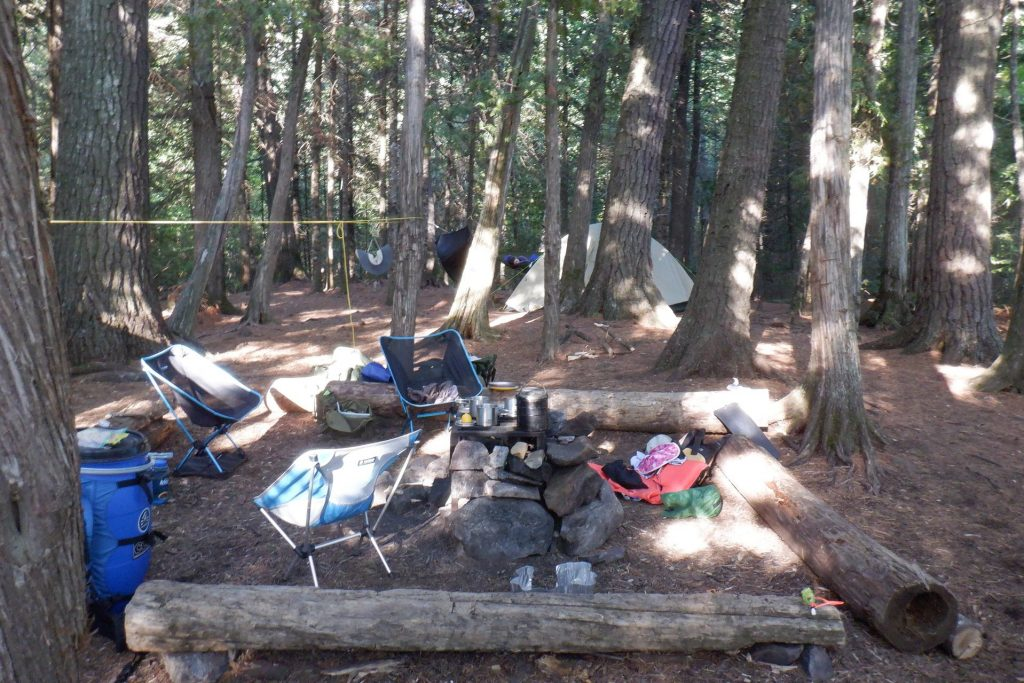 camp kitchen and tent