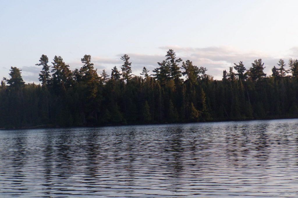 lake trees sky